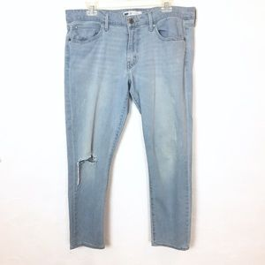 LEVI'S Light Wash Jeans Ripped Knee Distressed 12
